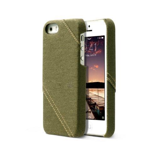 Zenus Cambridge Bar Case/Tasche Khaki für Apple iPhone 5/5S
