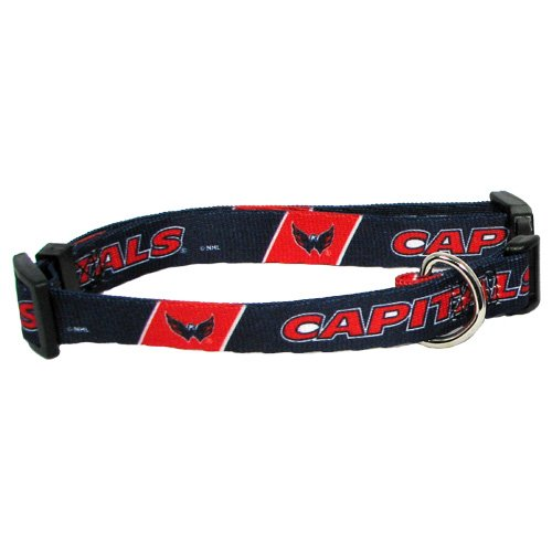 NHL Washington Capitals Adjustable Pet Collar, Team Color, Medium