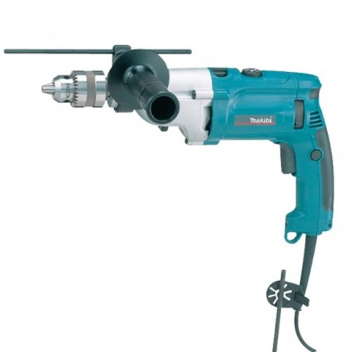Makita HP2071F 240 V 13 mm Percussion Drill with Keyless Chuck in a Carry Case HP2071F/2