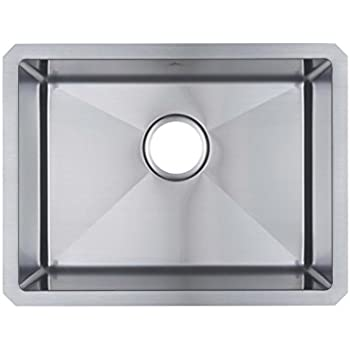 starstar 21 x 16 single bowl undermount kitchen sink 304 stainless steel 16 gauge starstar 21 x 16 single bowl undermount kitchen sink 304 stainless      rh   amazon com