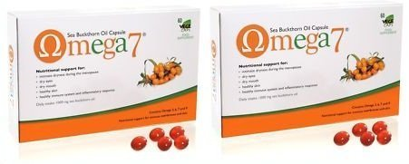 2 X Pharma Nord Omega 7 Sea Buckthorn Oil 150 Caps Each Menopause Dry 300 Caps in Total by Pharma Nord