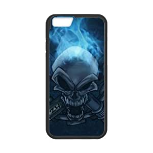 blue flame skullnormal iphone 6s 4.7 Inch Cell Phone Case Black 53Go-175636