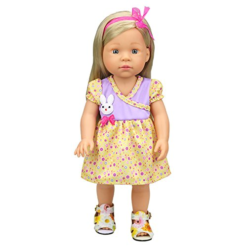 Banne Park Rids 16 Inches Simulation Skirt New Bitty Princess Baby Doll's Clothes (Princess Peach Baby Costume)