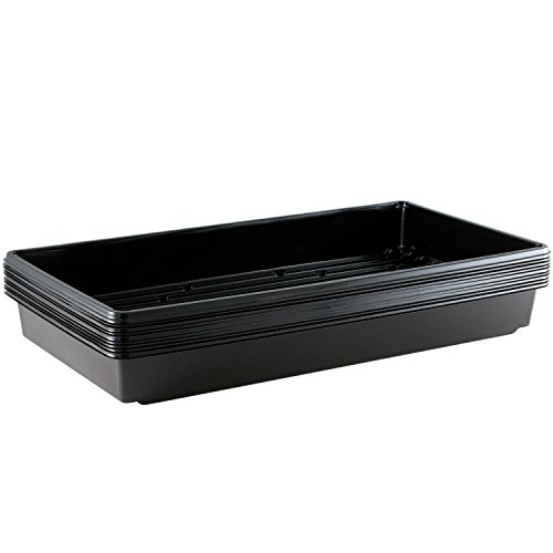 Yield Lab 10 x 20 Inch Black Plastic Propagation Tray (10 Pack) - Hydroponic, Aeroponic, Horticulture Growing - Trays Seed Plastic
