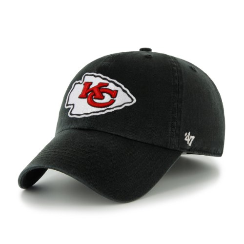 NFL Kansas City Chiefs Men's Clean Up Cap, Black, One -