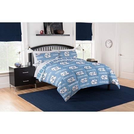 Official UNC North Carolina Tar Heel Queen Bed in Bag Set (Unc Comforter Set)