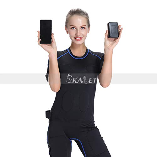 Unisex Close-Fitting EMS Suit Musle Building& Fat Removal Wireless Remote Control EMS Muscle Massage for EMS Fitness…