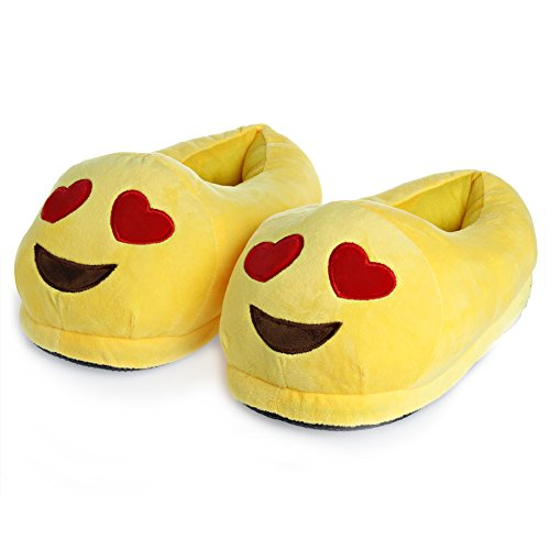 Chunlin Emoji Slippers - Cartoon Cute Smiley Faces - Warm Cozy Soft and Funny Comfort- Plush Stuffed Unisex Home Indoor Shoes (02#)
