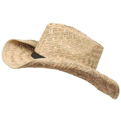 [child's cowboy straw hat (02)-natural W20S28F] (Straw Farmer Hats)