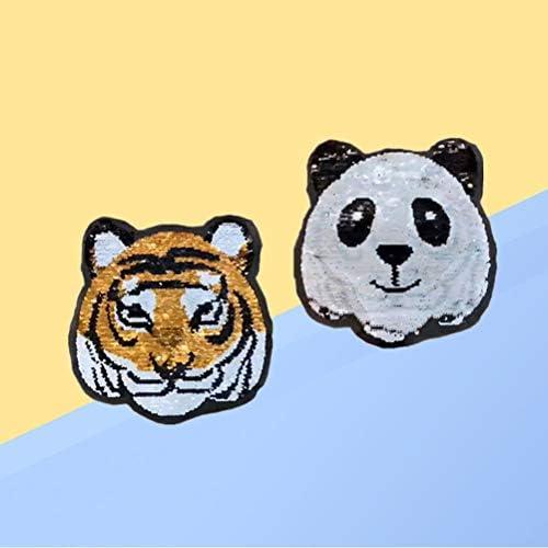 Vosarea Parches de Hierro diseño de Tigre, Panda, Forma AB: Amazon ...