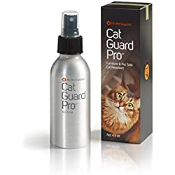 Cat Guard Pro Pet Safe Furniture Cat Repellent - 4oz Spray Bottle - Eucalyptus Scent