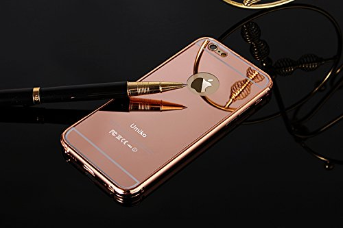 75b26b7a2e Amazon.com: iPhone 6S Plus Rose Gold Mirror Case for Girls, Umiko(TM ...