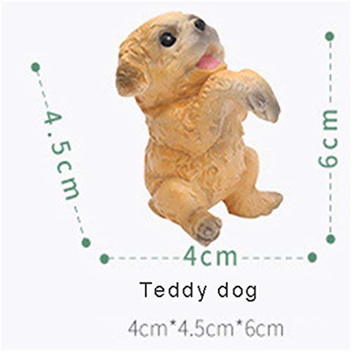 Creative Simulation Dog Potted Ornaments Resin Material Office