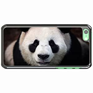 iPhone 5C Black Hardshell Case panda muzzle Desin Images Protector Back Cover