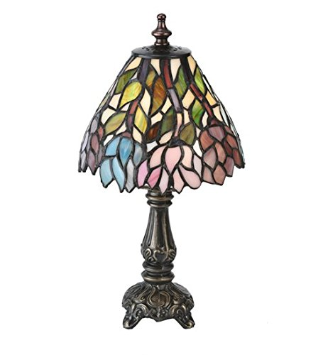 (Wisteria Tiffany Mini Table Lamp)