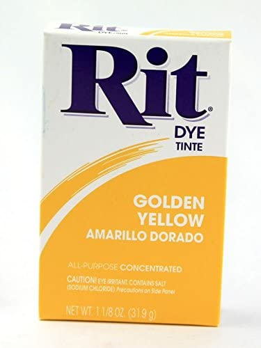Rit Concentrated Powder Fabric Dye Golden Yellow - each