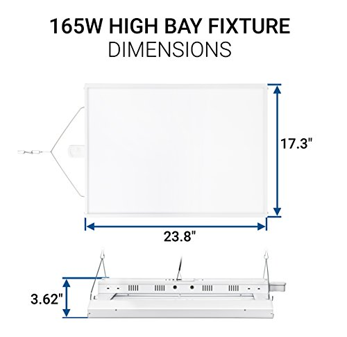 Hyperikon LED High Bay Light Fixture, Motion Sensor Included, 165W (500W Equivalent), 22000 Lumen, 5000K Indoor Area Warehouse Industrial Lighting, DLC and UL by Hyperikon (Image #7)