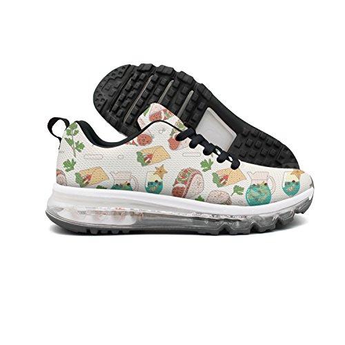 Euuair Vrouwen Tacos Burritos Margaritas En Koriander Fitness Luchtkussen Schoenen Casual Running Walking Sneakers