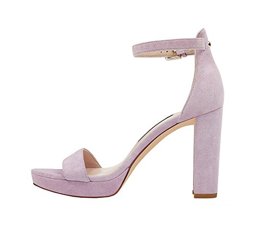clearance purchase Nine West Women's Dempsey Leather Dress Sandal Light Purple cheap sale sale where to buy buy cheap shop for 08zq1f