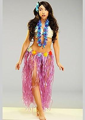 Magic Box Falda Larga Hawaiana púrpura de la Hierba de Las Mujeres ...