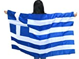 "World Cup 2014 Greece Flag""Made to Wear"" 3ft×5ft, Unisex. Vibrant Colors. Special Edition.Limited Quantity.100% Money Back Guarantee. Sold Exclusively on Amazon. Unique Sports Souvenir. For Sale"