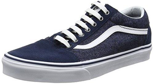 Vans Unisex Old Skool Classic Skate Shoes Dress Blue