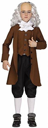 Fun World 115682S Ben Franklin Costume, Small 4 - 6, Multicolor
