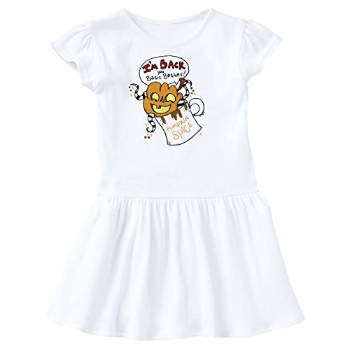 inktastic Pumpkin Spice Toddler Dress 4T White - Gus Fink Studios - Spice Dress Baby