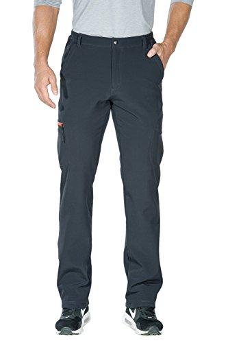Nonwe Men's Water-Resistant Softshell Fleece Lined Snow Ski Pants Gray-1 XL/34 ()