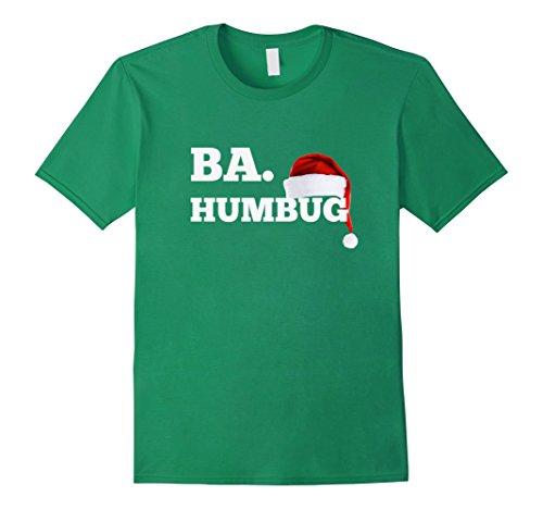 Men's Ba Humbug Santa Hat Funny Bar Crawl Festive Shirt 2XL Kelly Green (Ba Humbug)