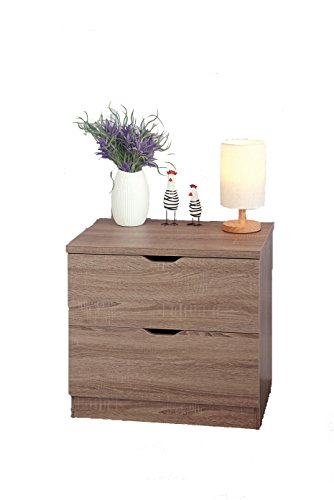 Smart home Eltra K Series 2 Drawers Chest Dresser (2 Drawers, Dark Taupe) by Smart home