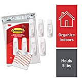 Command by 3M Wall Hooks, White, Decorate Damage Free, 7 Hooks