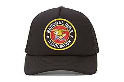 NRA Embroidery Black Military Trucker Hat