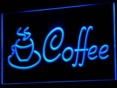 Cappuccino Led Sign (Coffee Cup Shop Cappuccino Cafe LED Sign Neon Light Sign Display i433-b(c))