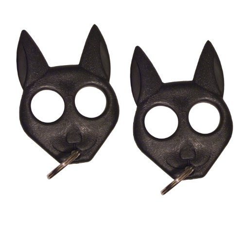 Black Cat Keychain Bundle Keyring Self Defense Keychain Lot
