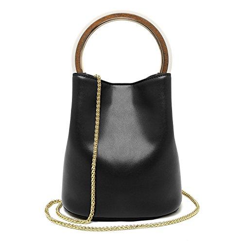 La Women 's Handbag Bag,Brown black