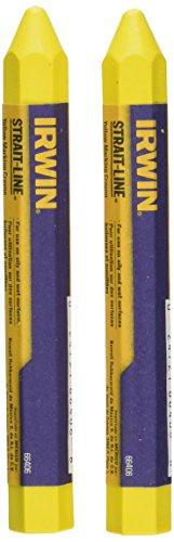 IRWIN Tools STRAIT-LINE Lumber Crayons, Yellow, 2-Pack (666062)