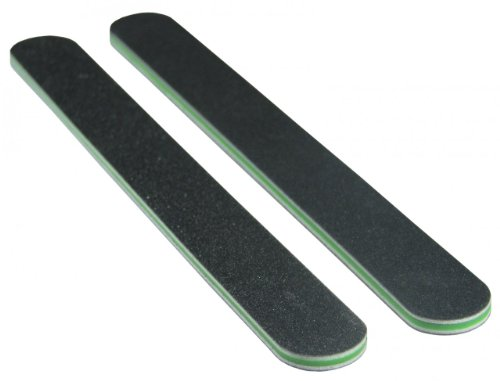 Premium Black 120/240 (Green Ctr) Washable Nail File 50 Pack