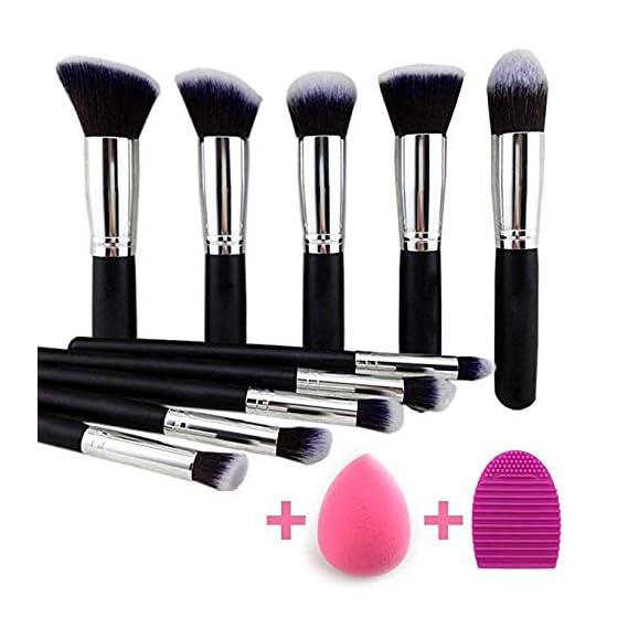 KYLIE Makeup Brushes Set Premium Synthetic Kabuki Foundation Face Powder Blush Eyeshadow Brush Makeup Brush Kit with