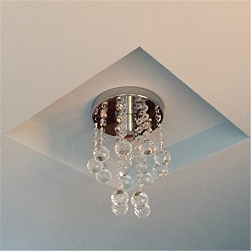 Navimc mini modern crystal chandeliers rain drop pendant flush mount ceiling light lamp diameter6 29 height 9 inch amazon com