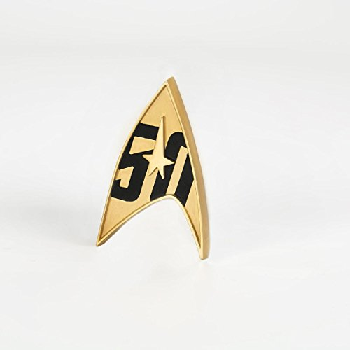 QMx Star Trek 50th Anniversary Magnetic Badge