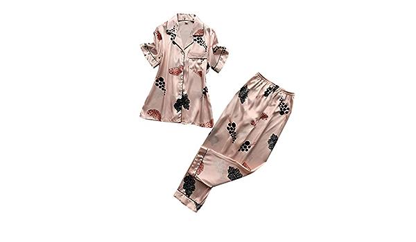 Witsaye Camisas de noche para mujer Topgrowth Pijama de satén ...