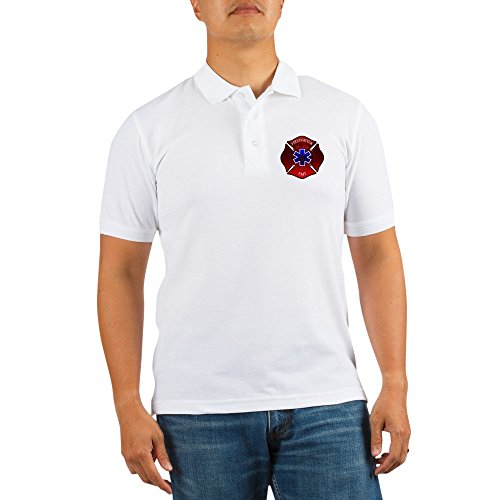 Truck Golf Shirt (CafePress - FIREFIGHTER-EMT - Golf Shirt, Pique Knit Golf Polo)
