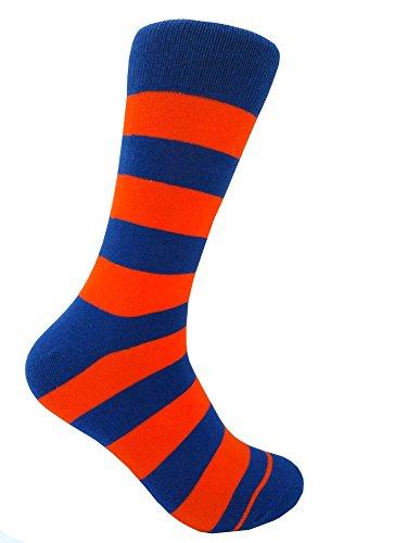 Men's Groomsmen Wedding|Party Events|Gala Collection Stripe Dress socks Royal -