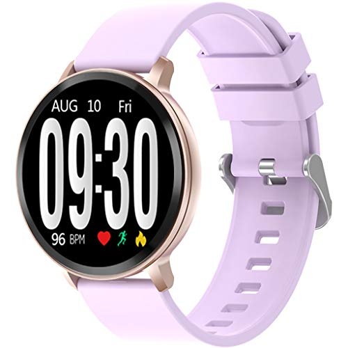 Eiowords Smart Watch Android iOS Sports Fitness Calorie Wristband Wear Pedometer Removable Battery Built-in Activity Tracker Watch with Heart Rate Monitor (Purple) ()