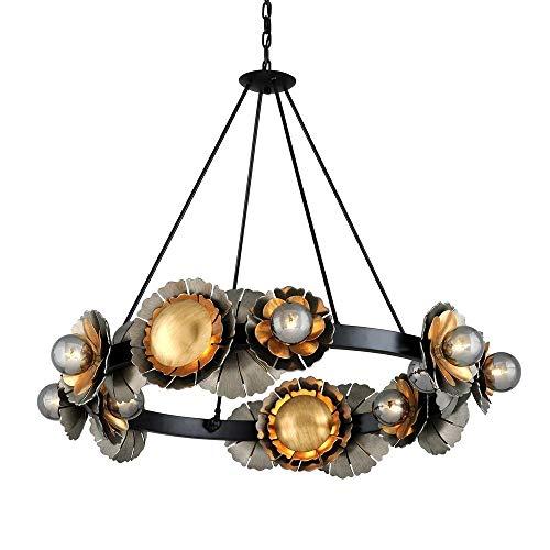 016 Corbett Lighting - Corbett 278-016 Magic Garden Chandelier, 16-Light 640 Total Watts, Black Graphite Bronze Leaf