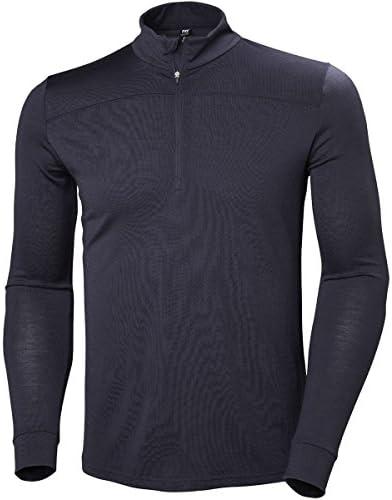 Helly-Hansen Mens Merino Wool Mid 1//2 Zip Baselayer Top