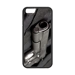 inches Slim And Stylish Weapons Guns Handgun Pattern iphone 4 4s TPU(Laser Technology) Case Cover for White And Black