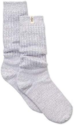 UGG Women's Rib Knit Slouchy Crew Socks Seal Sock