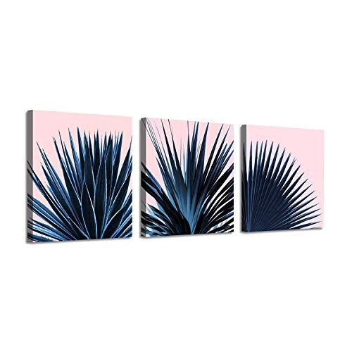 Botanical Picture Canvas Artwork Prints: Palm Leaves Graphic Art for Wall Decor
